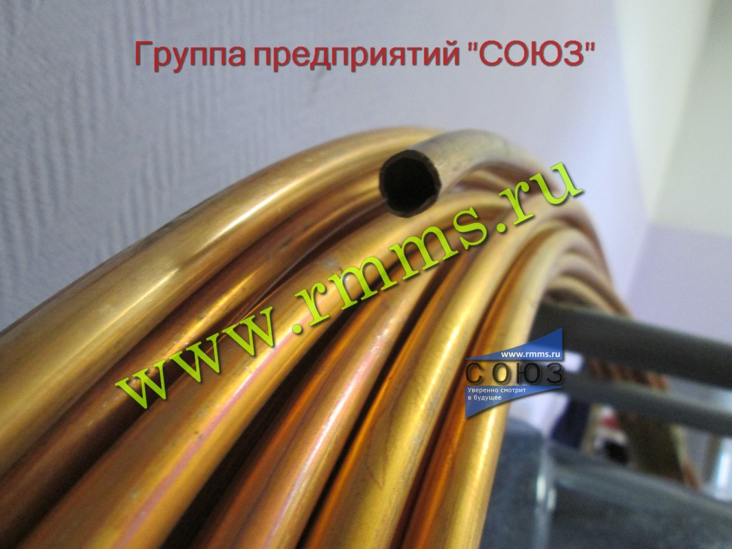 Фото латунных труб для теплообменных аппаратов